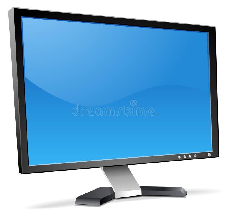 3D LCD Monitor vector illustration
