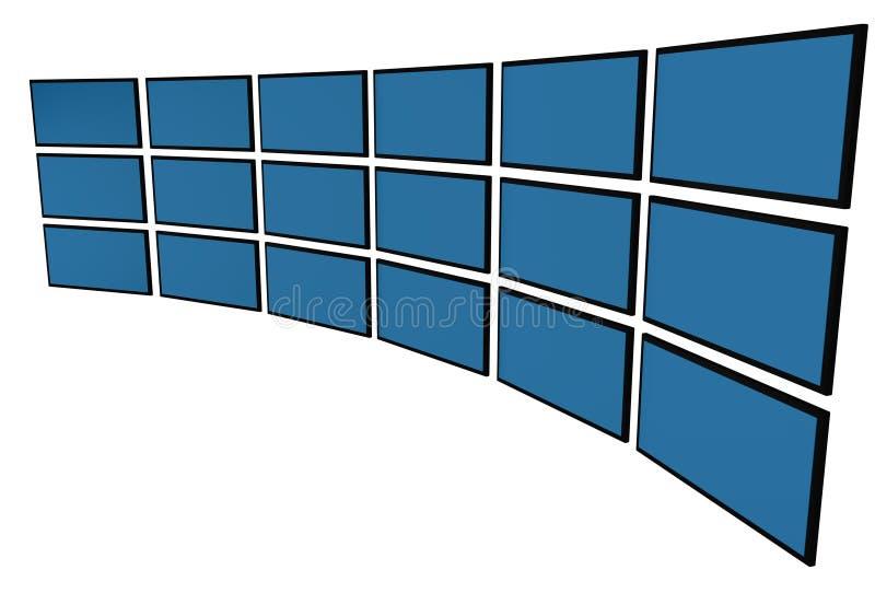 3D LCD monitors stock illustration