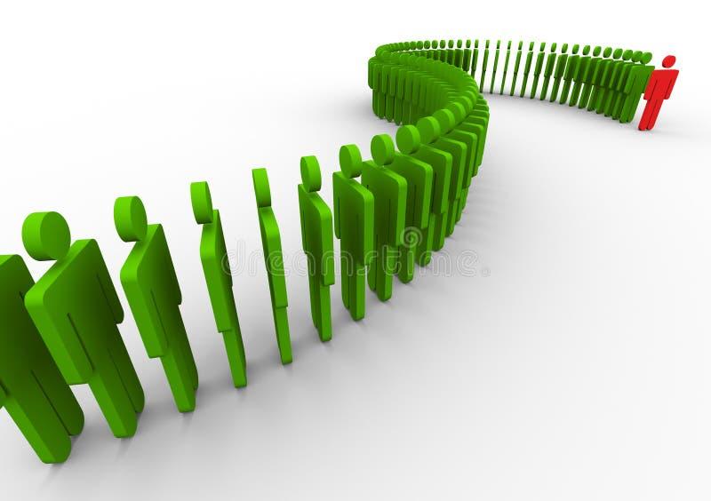 Download 3d Leadership And Teamwork Concept Stock Illustration - Image: 21447259