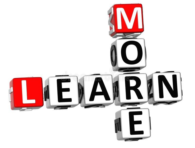 Download 3D Learn More Crossword stock illustration. Image of leadership - 21000044
