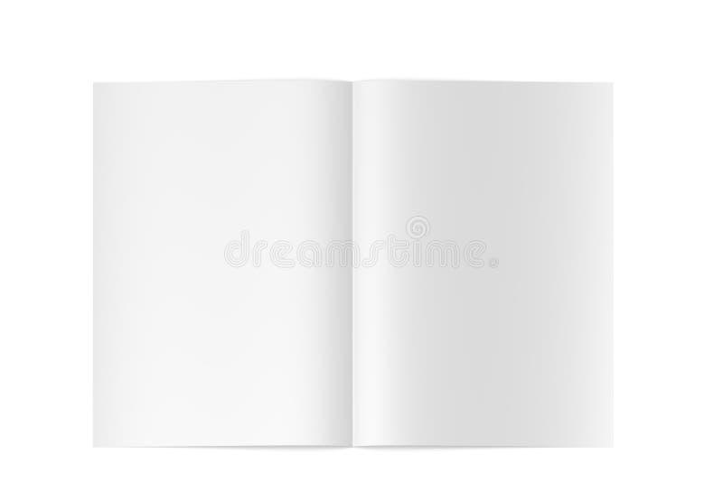 3d leeg geopend tijdschrift/boek van uitstekende kwaliteit stock illustratie