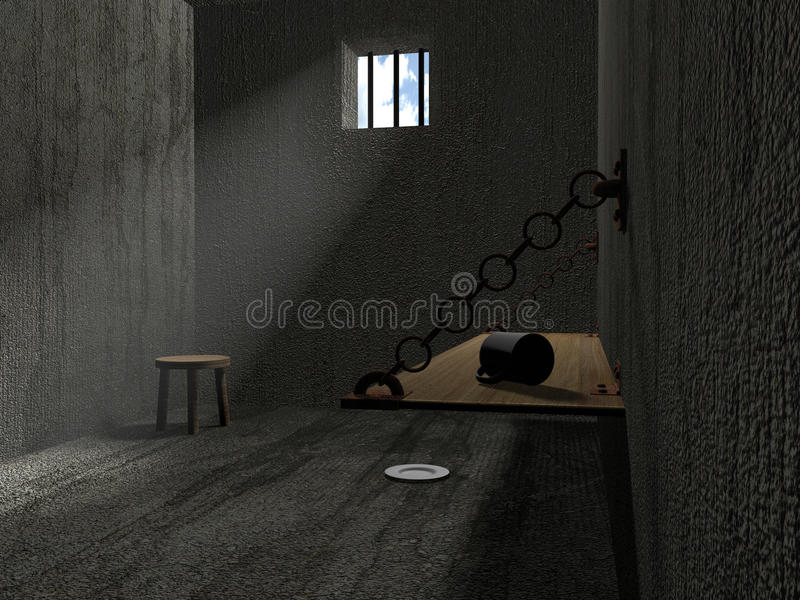3d leeren Gefängnisraum vektor abbildung