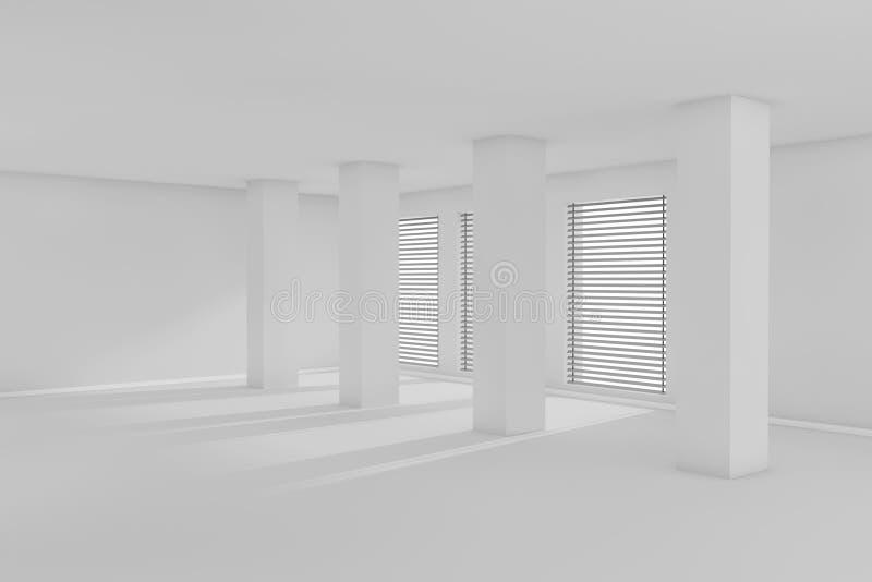 3d leeren Raum mit Tageslicht lizenzfreie abbildung