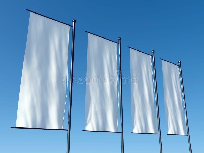 3d lege reclamevlaggen of aanplakborden vector illustratie