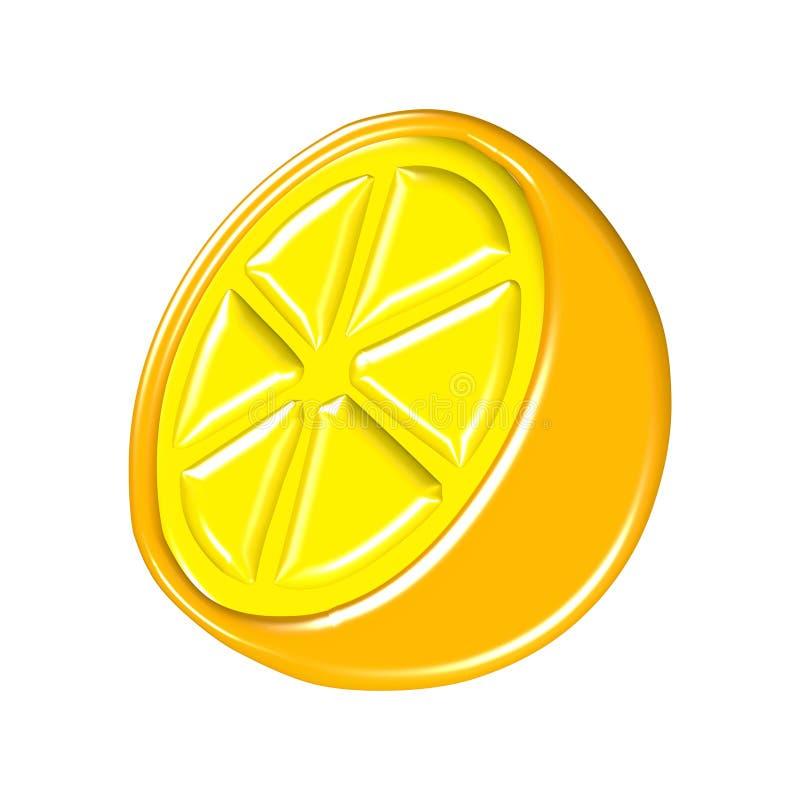 3d lemon stock image