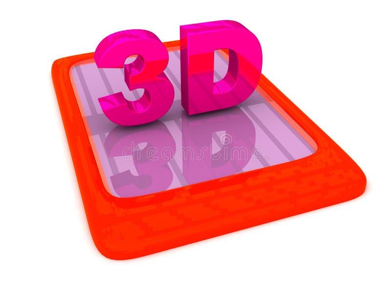 Download 3D lettering on Gadget stock illustration. Image of multimedia - 26372620