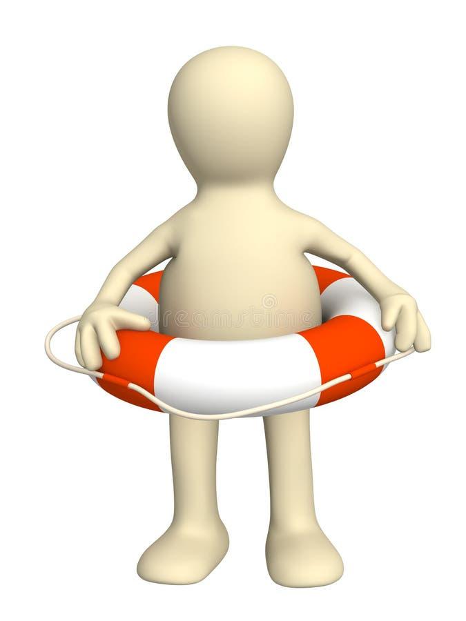 3d lifebuoy木偶环形 库存例证