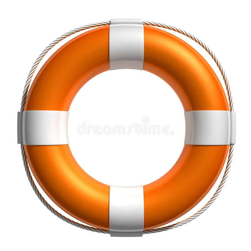 3D Lifebuoy illustration de vecteur