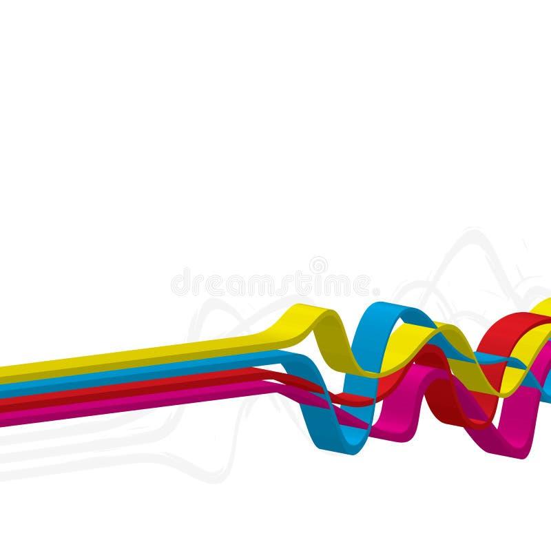 3D Lijnen Squiggle stock illustratie