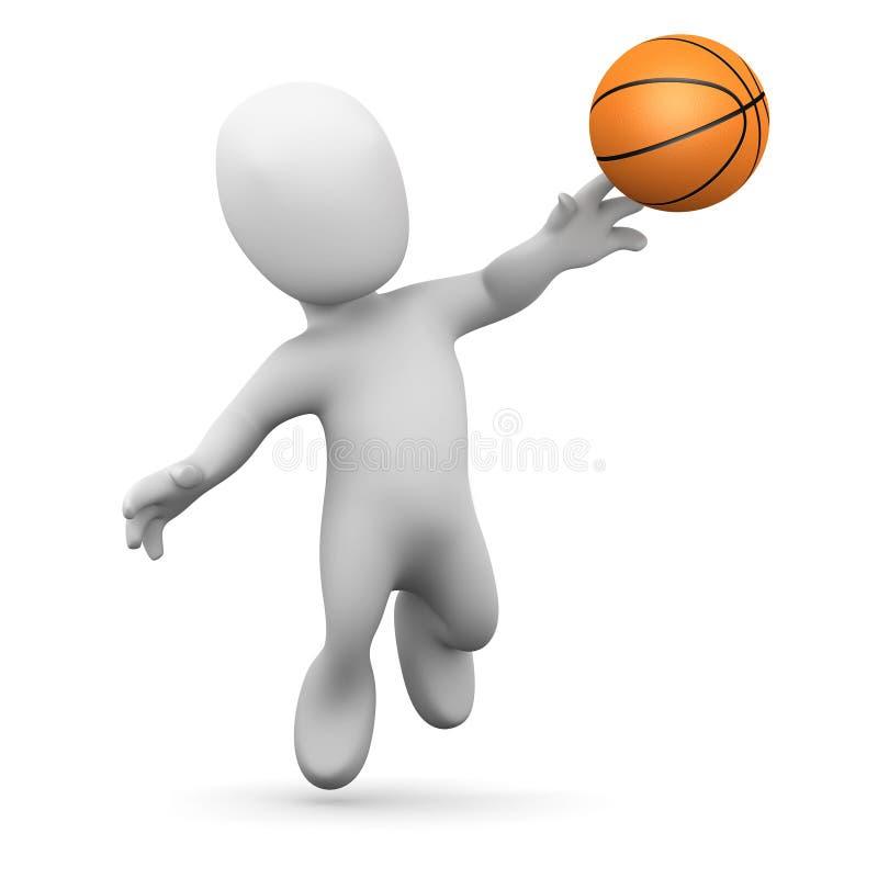 Free 3d Little Man Plays Basketball Stock Photos - 43024163