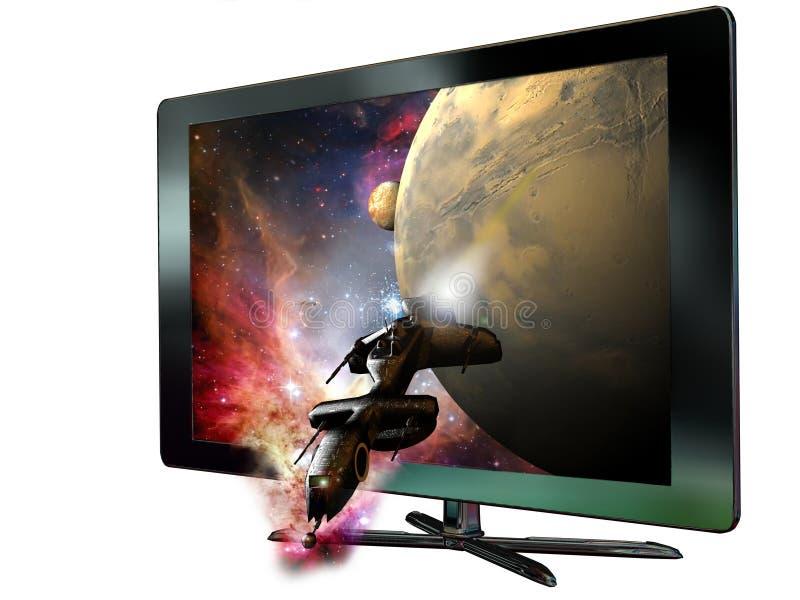 3D llevó la televisión ilustración del vector