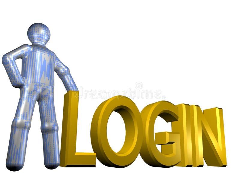 3D Login stock illustratie