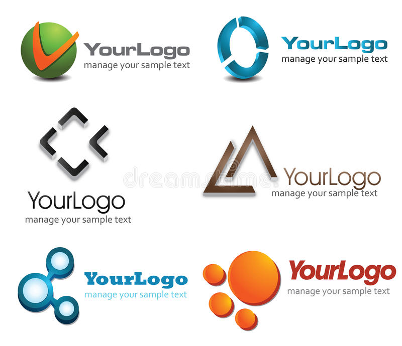 3D Logo vector illustration