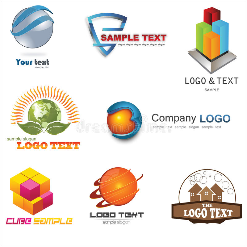 3D Logo royalty free illustration