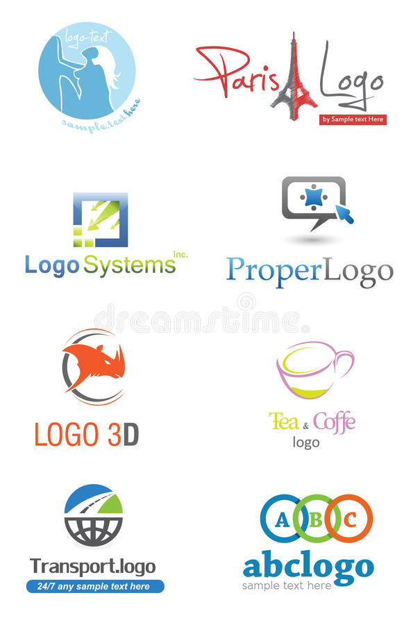 3D Logo. Set,illustration company identity pack