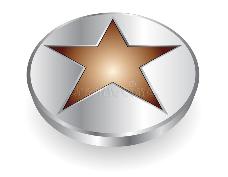 Download 3D logo metallic star stock vector. Image of communication - 12318157