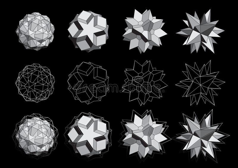 Download 3D logos set stock vector. Illustration of illustration - 26520587