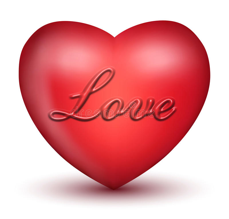 3D Love Heart royalty free illustration