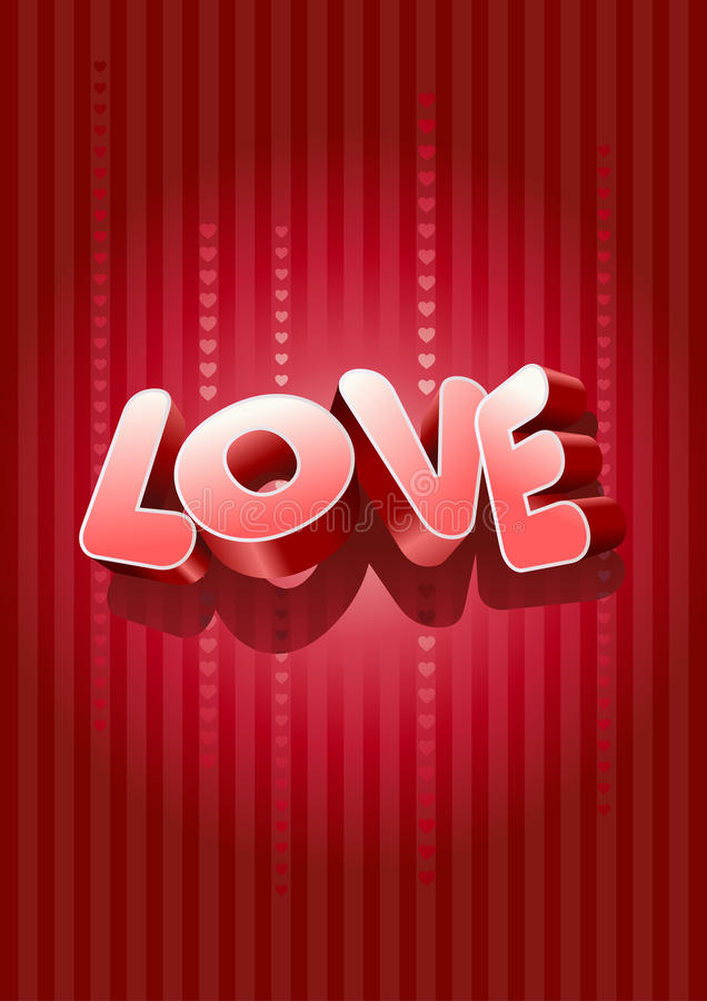 Download 3D Love Text Stock Images - Image: 22636324