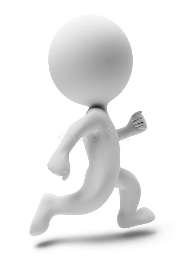 3d ludzie biegają małego ilustracji
