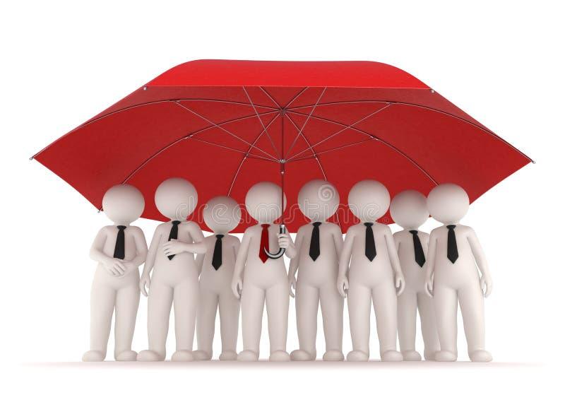 3d ludzie biznesu ochron royalty ilustracja