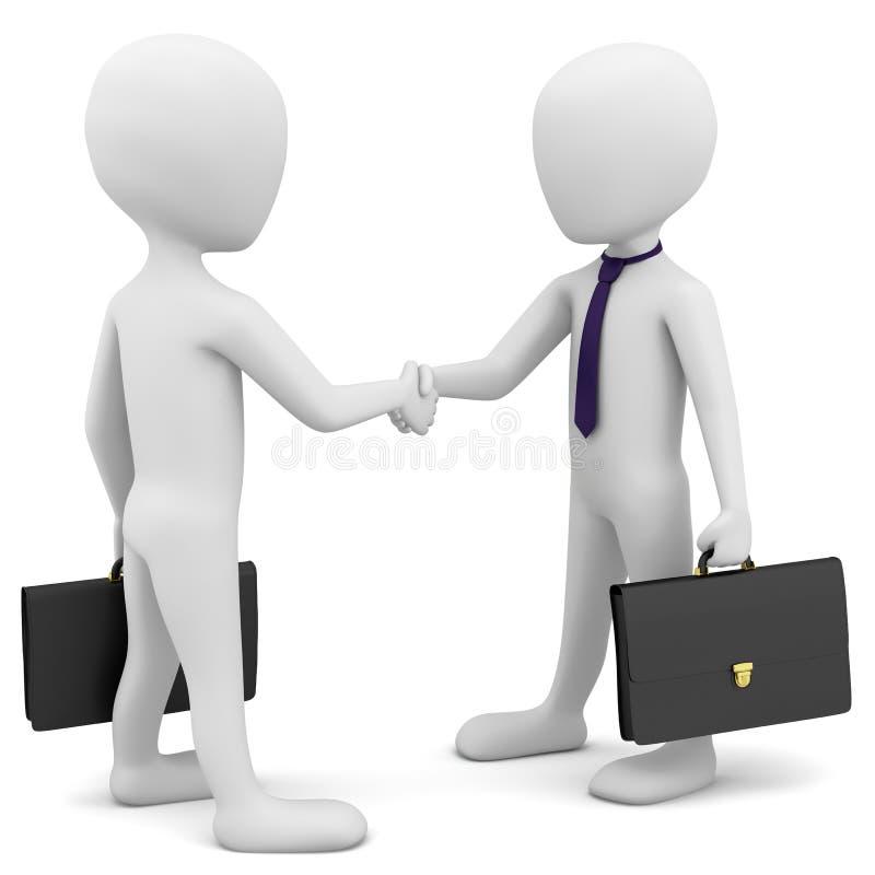 Download 3d ludzie biznesu witają. ilustracji. Ilustracja złożonej z skrzynka - 28969896