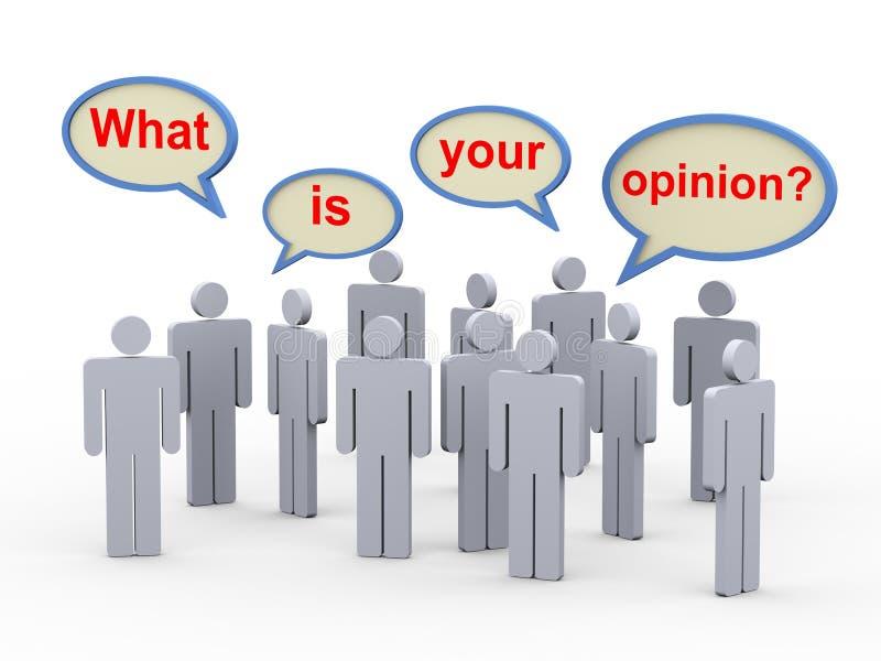 3d ludzie - co jest twój opinią ilustracja wektor
