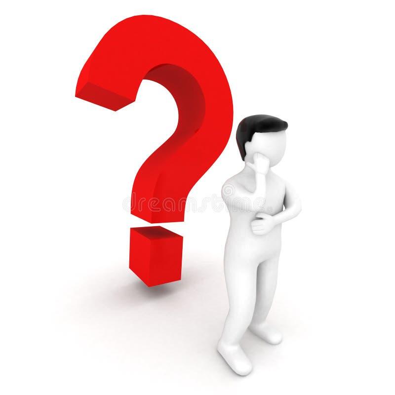 3d ludzka oceny pytania pozycja ilustracja wektor
