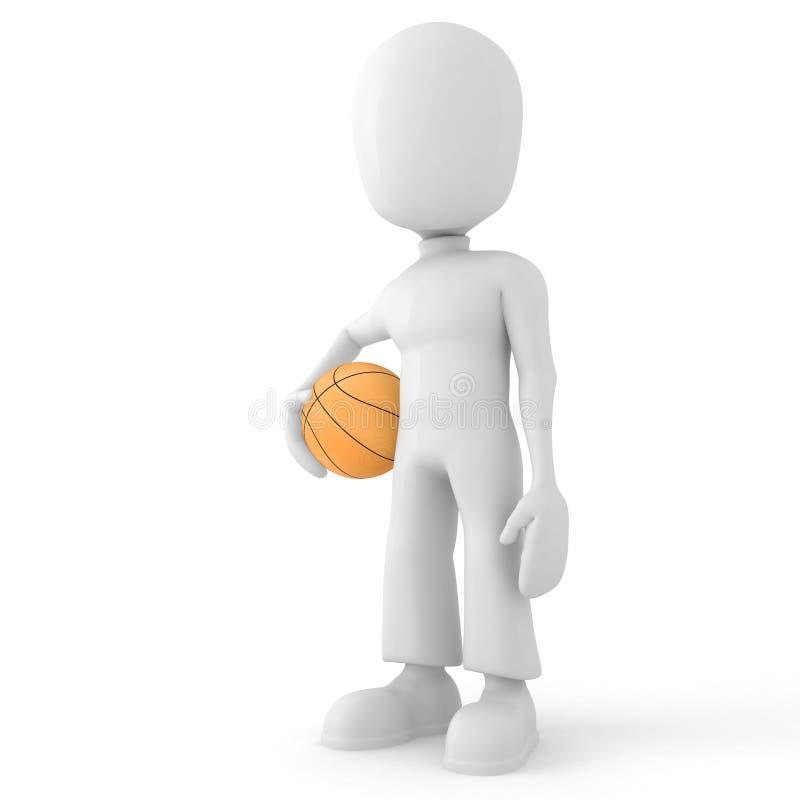 3d mężczyzna balowy koszykowy gracz royalty ilustracja