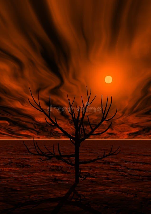 3d magic sunset royalty free stock image