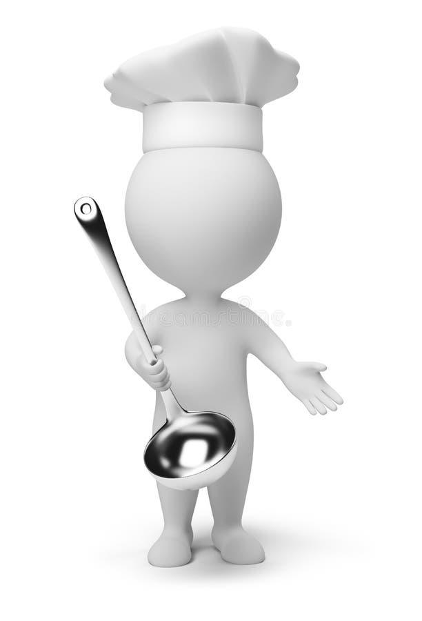3d mali kucharzów ludzie ilustracji