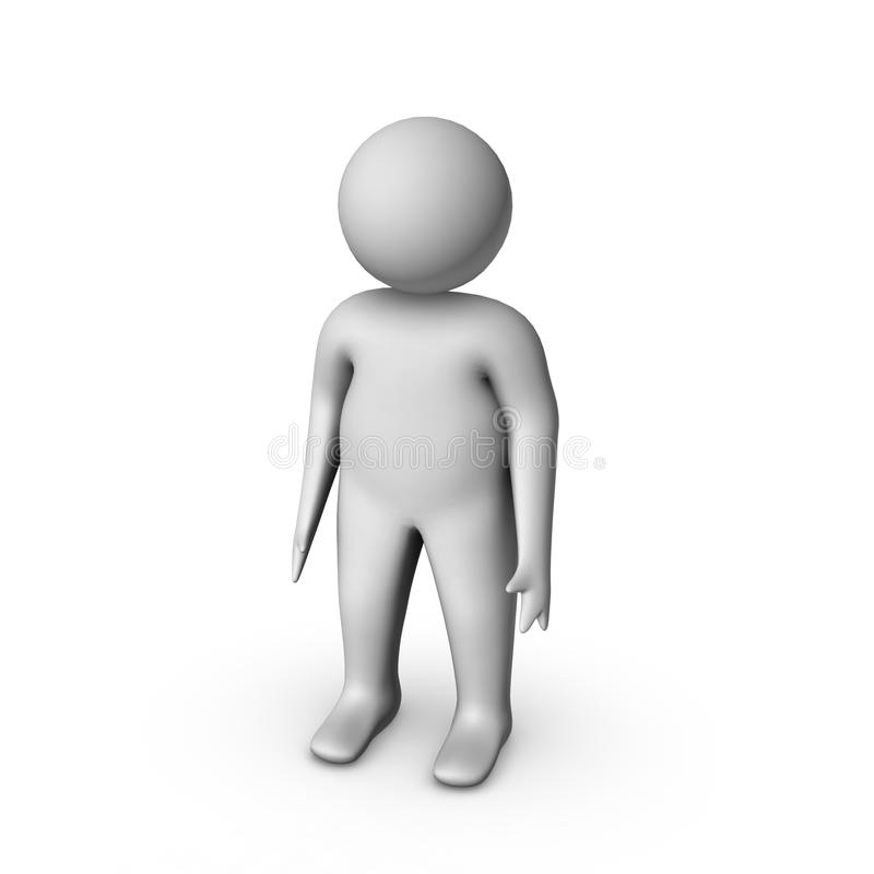 3d man. Isolated on white vector illustration