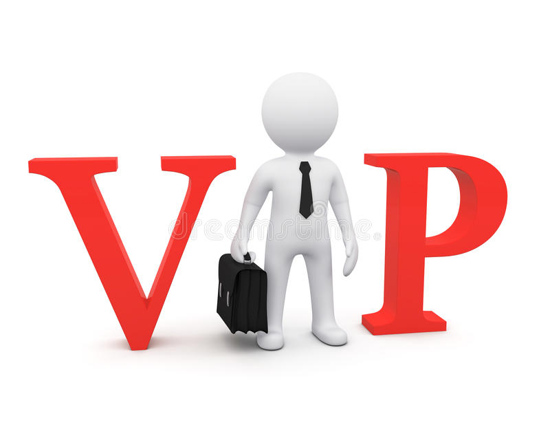3D man as VIP person vector illustration