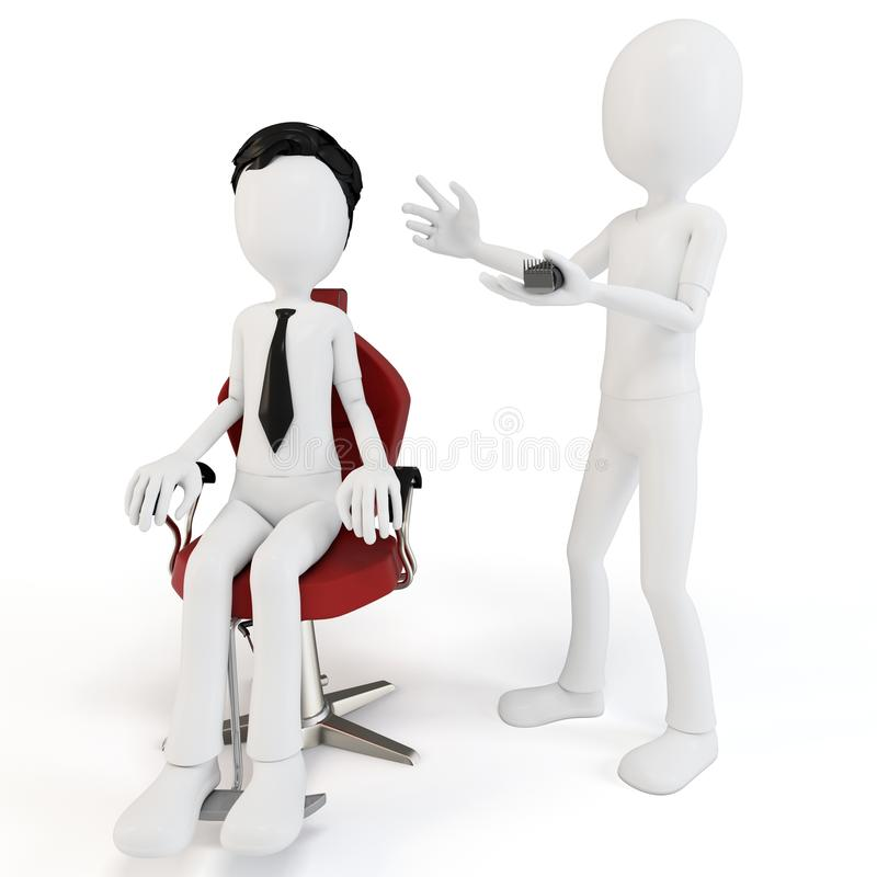 Free 3d Man At Barber Shop Royalty Free Stock Photos - 21822298