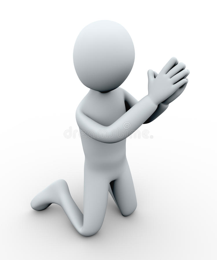Download 3d man begging stock illustration. Image of character - 27283899
