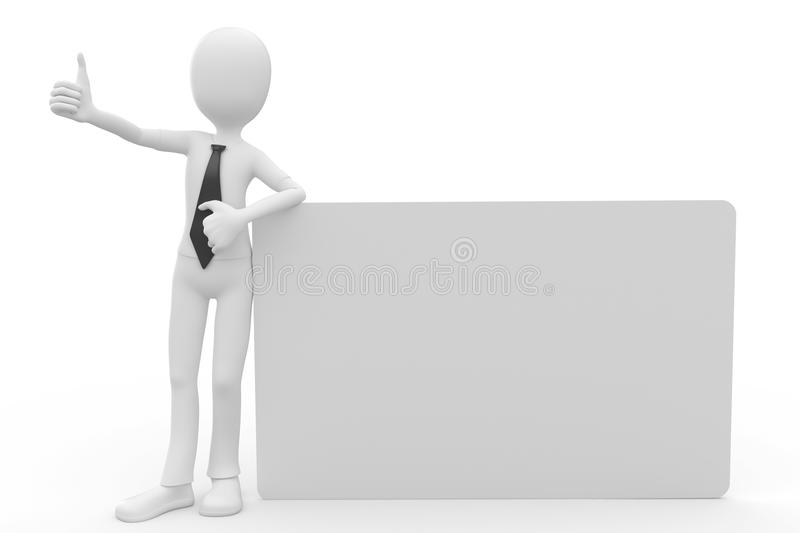 Download 3d Man With Blank Billboard Stock Illustration - Image: 18494197