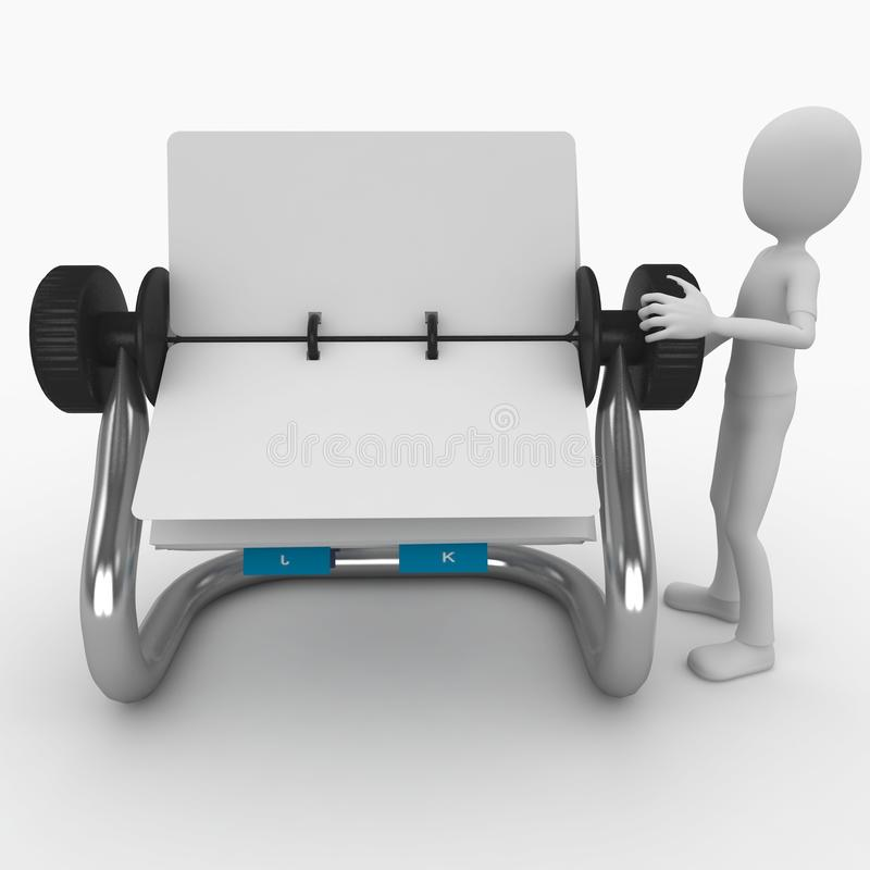 Download 3d Man With Blank Rolodex Stock Images - Image: 16092194