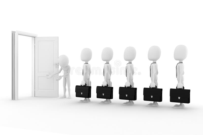 3d man business concept. On white background vector illustration