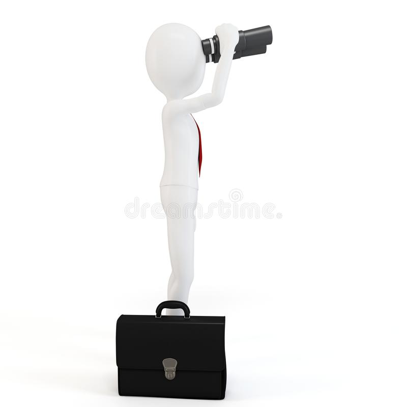 Download 3d Man Businessman With Binoculars Royalty Free Stock Images - Image: 21923579