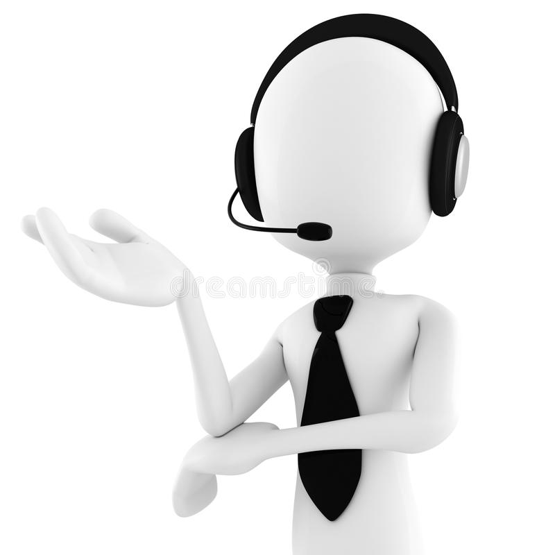 Download 3d Man Call Center Offering Support Stock Illustration - Image: 17007223