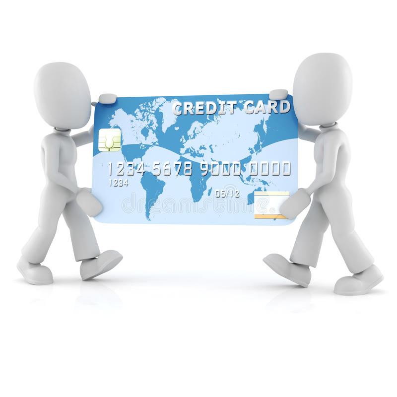 Download 3d Man Carrying A Business Card Stock Illustration - Image: 15656352