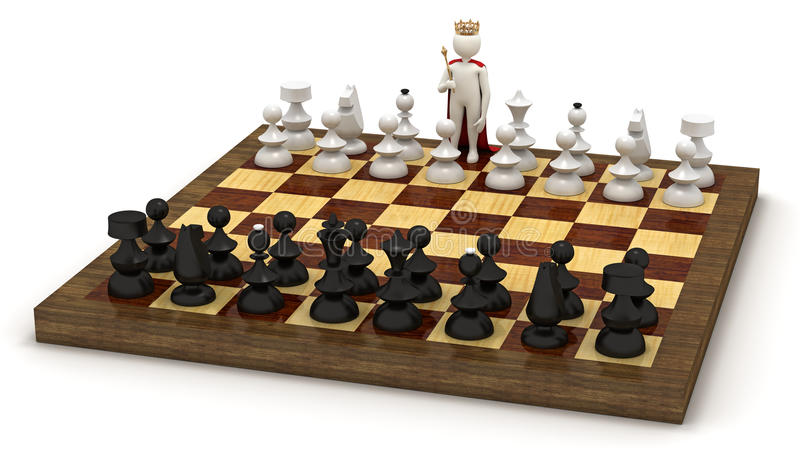 Download 3d Man On Chess Board As King Stock Illustration - Image: 19739570