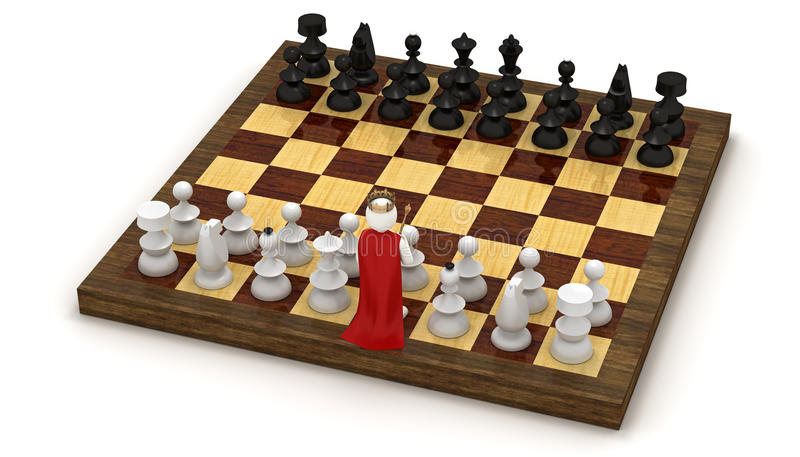 Download 3d Man On Chess Board As King Stock Illustration - Image: 19739584