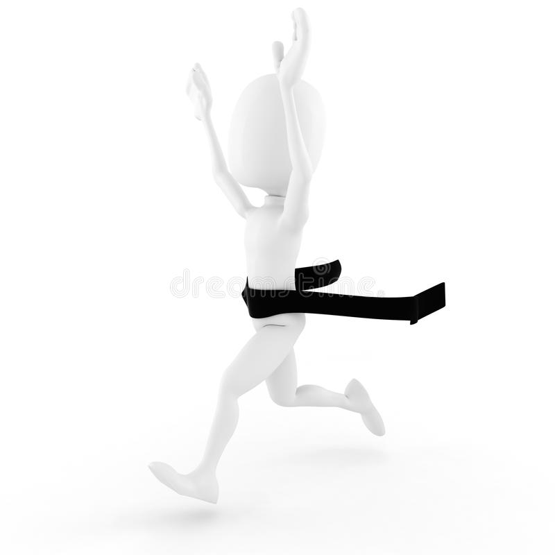 3d Man Competition Winner Royalty Free Stock Photography