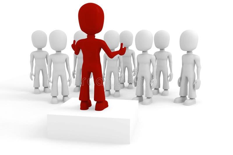 3d man conference royalty free illustration