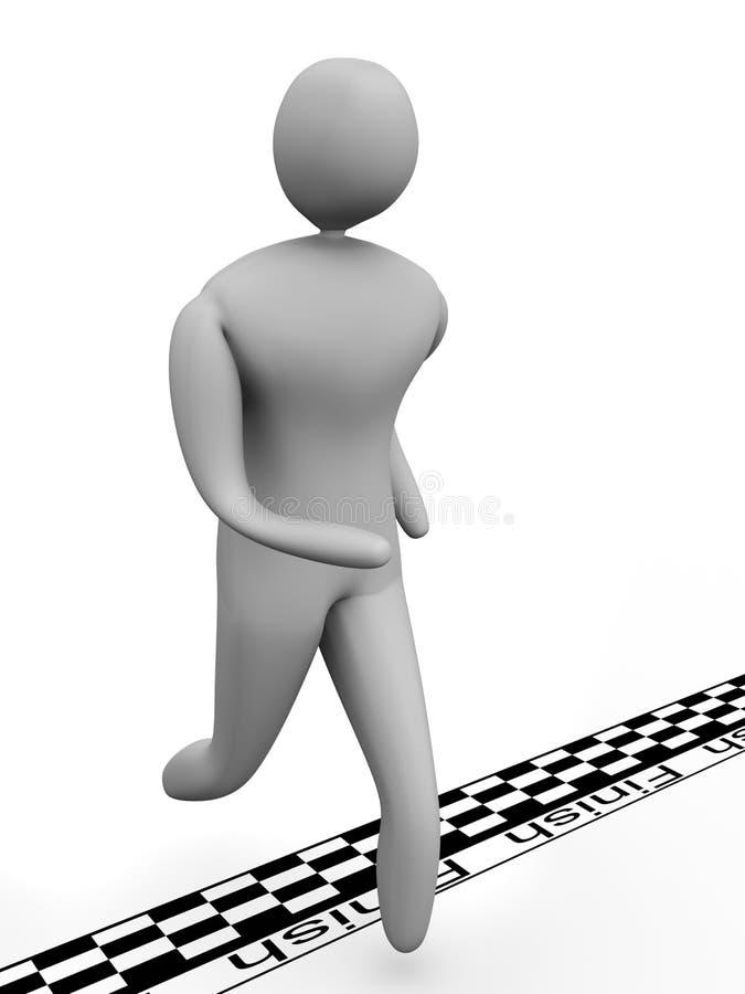 Download 3D Man Crosses The Finish Line Stock Illustration - Illustration: 10067528
