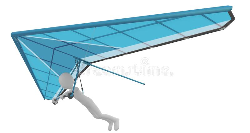 Download 3d Man With Delta-plane Flying Stock Illustration - Image: 16247047