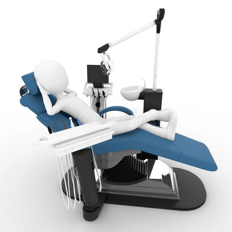 Download 3d Man With Dentist Chair Stock Photography - Image: 16793242
