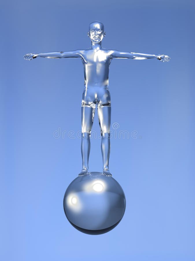 3d Man digital era concept royalty free stock photography