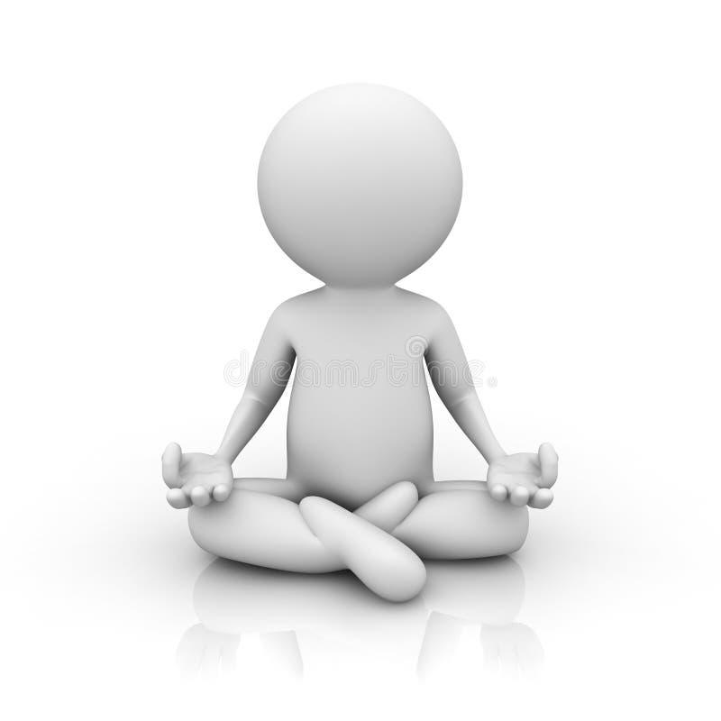 Download 3d man doing meditation stock illustration. Illustration of contemplation - 25506034